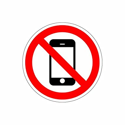 No Cell Phone Zone - Color Sticker - Decal - Die Cut
