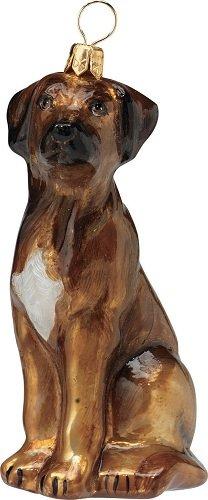 Blown Glass European Dog Ornament -Rhodesian Ridgeback