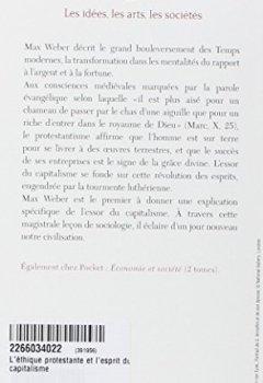 Livres Couvertures de L'éthique protestante et l'esprit du capitalisme