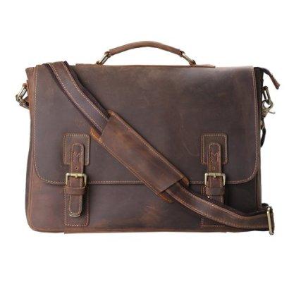 Kattee-Mens-Leather-Satchel-Briefcase-16-Laptop-Messenger-Shoulder-Bag-Tote