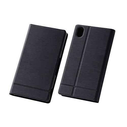 レイ・アウト Xperia Z4 docomo SO-03G / au SOV31 手帳型スリムレザーケース ICカード収納ポケット×1 / スタンド機能付  ブラック RT-XZ4SLC1/B