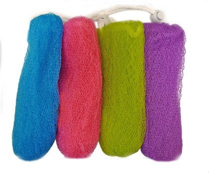 Aquasentials Exfoliating Mesh Soap Saver Pouch (4pk)(Color Assorted)