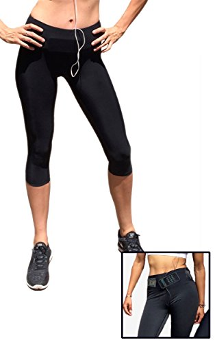 Sport-it Yoga Capri Leggings Tights | Workout Pants with pockets ...