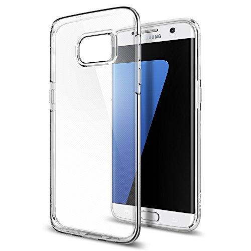 【Spigen】 Galaxy S7 Edge ケース, リキッド ・クリスタル [ 超薄型 超軽量 ] ギャラクシー S7 エッジ 用 カバー (Galaxy S7 Edge, クリスタル・クリア)