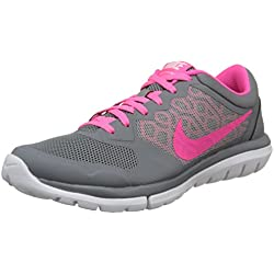 Nike Women's Flex 2015 Rn Cool Grey/Pink Pow/White Running Shoe 9 Women US