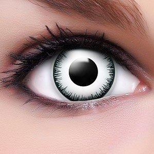 Farbige Kontaktlinsen Crazy Color Fun Contact Lenses 'Vampir' Topqualität inkl. 50 ml Lenscare Kombilösung und Linsenbehälter