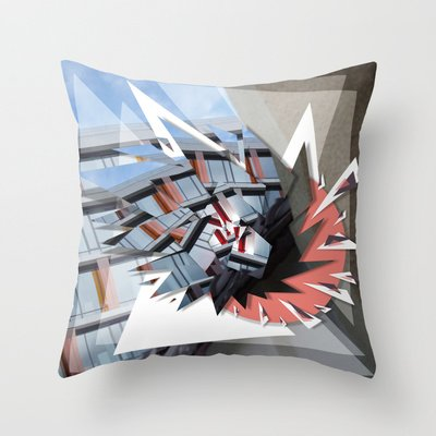 Shards Throw Pillow by 5wingerone