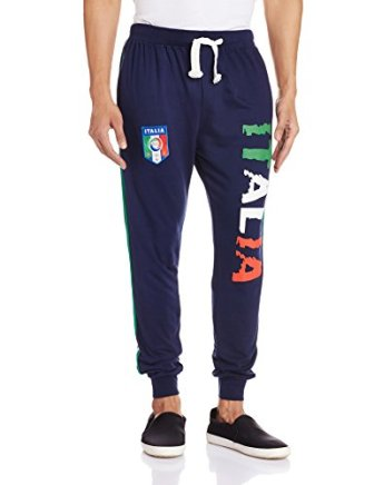 Body Tantrum Men's Track Pants (BTITNB_34W x 31L_Navy Blue)
