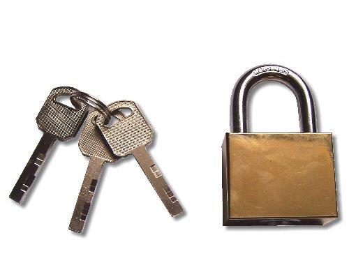 orhängeschloss Vorhangschloss 40 mm, m. langem Bügel, 3 Schlüsseln