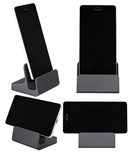 【LIHOULAI】ZTE AXON 7 卓上ホルダー ZTE AXON 7 mini 充電器ZTE BLADE V7 MAX 充電スタンド Type-C クレードル ドック グレー