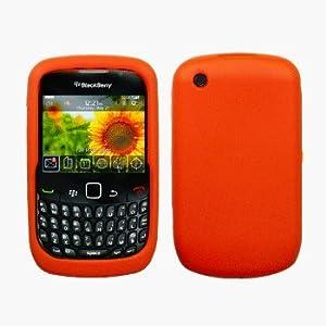 Orange Silicone Case / Skin / Cover for RIM BlackBerry Curve 8520 / 8530