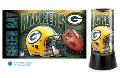 NFL Green Bay Packers Rotating Lamp