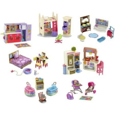 Fisher-Price-Loving-Family-Dollhouse-Furniture-Lot-of-7-Sets