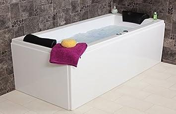 rbaignoire a remous relax basic made in germany 180 190 200 cm avec jets de massage underwater led lighting ight balboa sans accessoires de baignoire d 39 angle droit ou