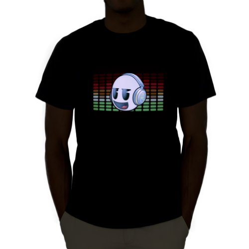 DJ Dank Head Sound Activated Light Up Rave Shirt
