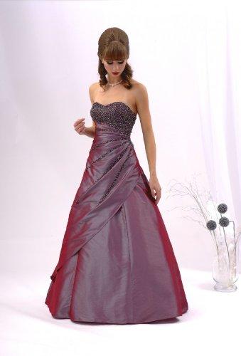 Ballkleid Abendkleid schlanke Optik mauve