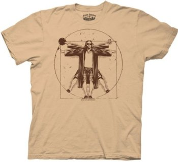 T-Shirt - Big Lebowski - Vitruvian - Camel, Mr. Media Interviews