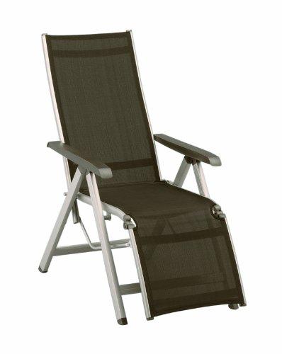 Kettler Relax-Sessel ?Basic? - textilbespanntes Alu, champagner/mocca