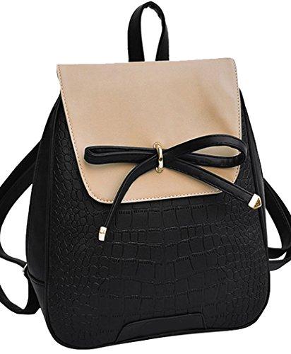 Coofit® Leather Backpack Girls Schoolbag Shoulder Bag Casual ...
