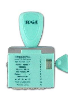 Livres Couvertures de Toga Tampon à Messages 12 Expressions Notes, Plastique, Turquoise, 9,5 x 14,5 x 3 cm