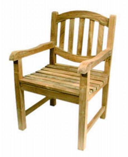 Ambientehome 62362 Stuhl O-Line mit Armlehne, Teak
