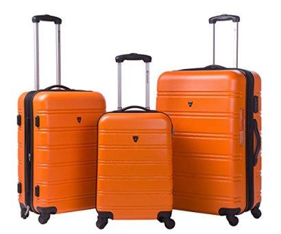 Merax-Travelhouse-Luggage-3-Piece-Expandable-Spinner-Set-Orange