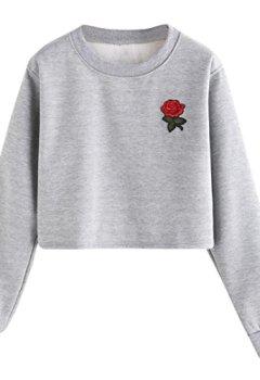 46d442970c Livres Couvertures de Bonjouree Pull Chic Femme Sweatshirt Hiver Sweat-shirt  Ados Fille Imprimé