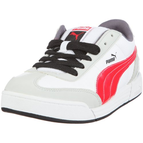 PUMA Puma Express Jr 352342, Unisex - Kinder, Sportschuhe, Rot  (white-high risk red-silver metallic-black 04), EU 29  (UK 11)  (US 12)