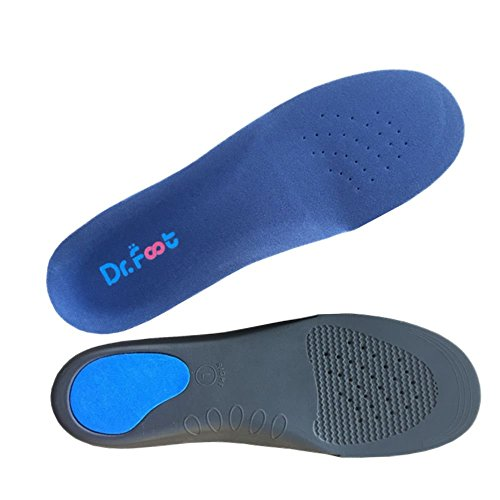 Dr. Foot's Full Orthotics Insoles - Built-in Metatarsal Raise Corrects Over-pronation,Fallen Arches, Fat Feet Insoles (L - W11-12.5 | M9.5-11)