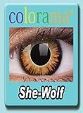 Farbige Kontaktlinsen Crazy Lenses Kostüm Karneval SHE-WOLF