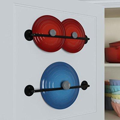 Steel-Gourmet-Kitchen-16-Inch-Wall-Rail-and-10-S-Hooks-Set-Utensil-Pot-Pa-Lid-Rack-Storage-Organizer