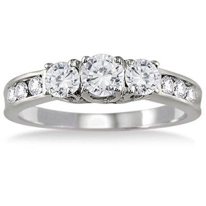 100-Carat-Diamond-Three-Stone-Ring-in-10K-White-Gold