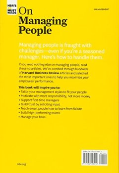 Livres Couvertures de HBR's 10 Must-Reads on Managing People