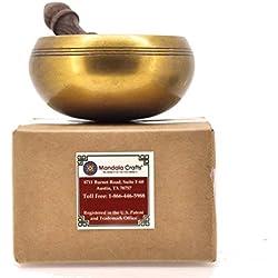 Mandala Crafts® Plain Tibetan Singing Bowl Rin Gong, 4 Inches