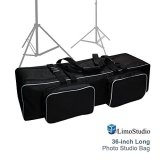 LimoStudio-Photo-Studio-Equipment-Large-Carrying-Case-Bag-with-Strap-for-Tripod-Light-Stand-Photo-Lighting-Bundle-Kit-36-inch-Length-Padded-Compartments-Big-Cushion-Storage-Photography-AGG1916
