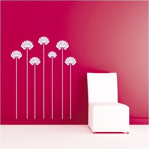 Blumenwiese, Größe: L, Maße: 95 cm X 120 cm, Farbe: Taubenblau