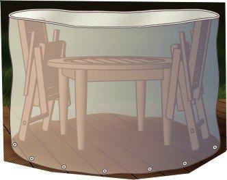 Abdeckung Gartenmöbel Schutzhülle für Sitzgruppe rund 200cm