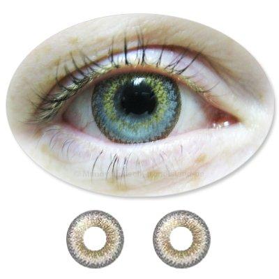 Farbige Kontaktlinsen Monatslinsen Fun ColorNova Grey /Graue ohne Stärken / Dioptrien