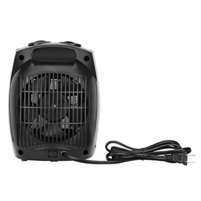 VonHaus 1500W Personal Ceramic Fan Heater with 2 Heat Settings Cool Air Function Adjustable Thermostat Small Portable Heater Black