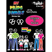 Gay Pride Stick Family People Car Sticker Decal Set - 21 Decals