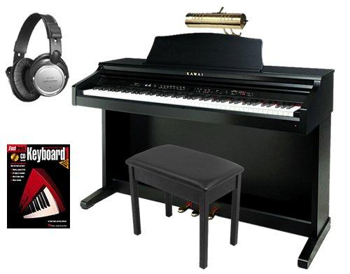Kawai CE220 Digital Piano BUNDLE w/ Matching Bench & Brass Piano Lamp