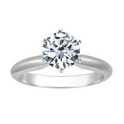 1-12-Carat-Round-Cut-Diamond-Solitaire-Engagement-Ring-Platinum-6-Prong-K-I1-15-ctw-Ideal-Cut