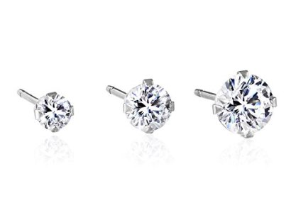 Round-Shaped-White-Swarovski-Zirconia-10k-White-Gold-Stud-Earrings-3mm-4mm-and-5mm-34-cttw