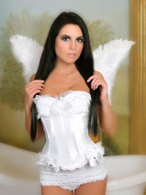Unschuldige Korsage Dream in engelhafter weißer Farbe Gr. M