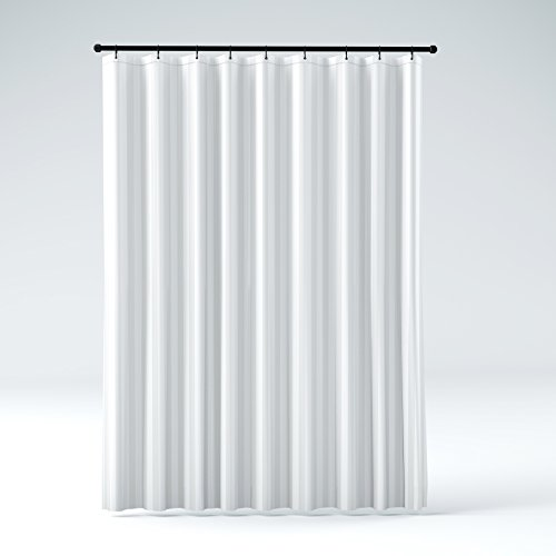 buy mildew resistant washable polyester fabric shower curtain liner elegant white damask stripe no pvc standard size 71 inches width by 71 inches length online in kuwait b00t3n7vxy