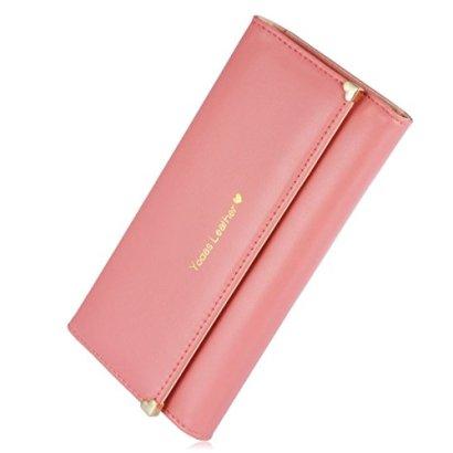 Augur-Womens-Lady-Leather-Purse-Credit-Card-Clutch-Holder-Long-Zipper-Long-Zipper-Wallet-Handbag-handbag-Watermelon-Red