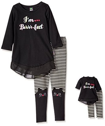Dollie-Me-Big-Girls-Im-Purr-Fect-Printed-Tunic-with-Legging-BlackWhite-8