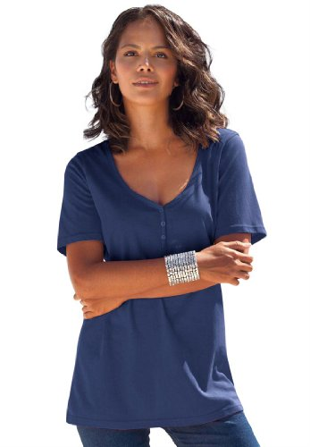 Images for Roamans Plus Size Ultimate Tee Sweetheart Neck (MIDNIGHT NAVY,2X)