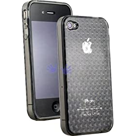 Apple iPhone 4 Semi-Hard Polymer Crystal Case - Smokey (Fits AT&T iPhone 4 only)