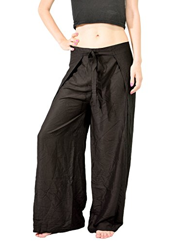 Orient-Trail-Womens-Yoga-Training-Wide-Open-Leg-Thai-Wrap-Pants-US-sizes-0-12